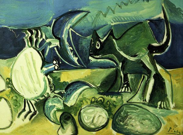Pablo Picasso, Kot i krab, 1965