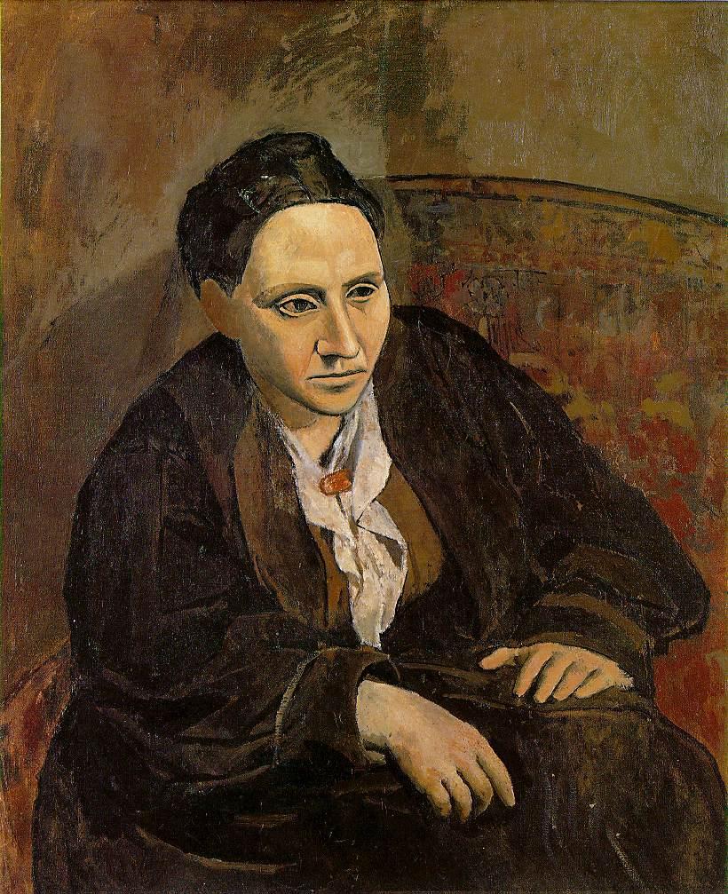 Pablo Picasso, Gertruda Stein, 1906, z kolekcji Metropolitan Museum of Art w Nowym Jorku