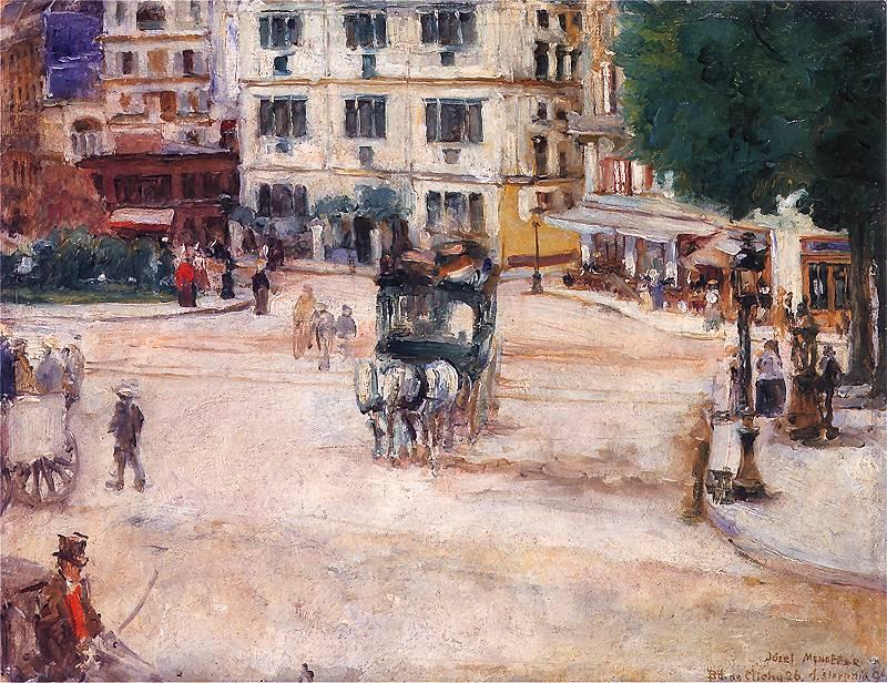 Józef Mehoffer, Plac Pigalle w Paryżu, 1894, ze zbiorów Muzeum w Poznaniu