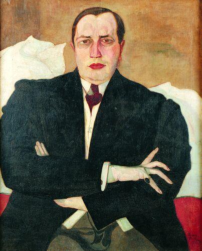 Stanisław Ignacy Witkiewicz, Udzielny BYK na urlopie, portret Leona Chwistka, 1913, źródło: DESA Unicum