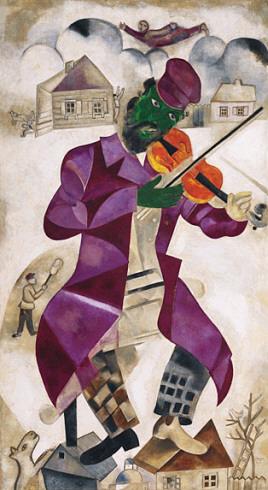 Marc Chagall, Skrzypek, z kolekcji Muzeum Guggenheim