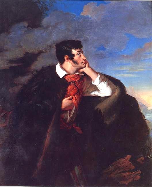 Walery Wańkowicz, Portret Adama Mickiewicza na Judahu skale, 1827-1828, z kolekcji Muzeum Narodowego w Warszawie