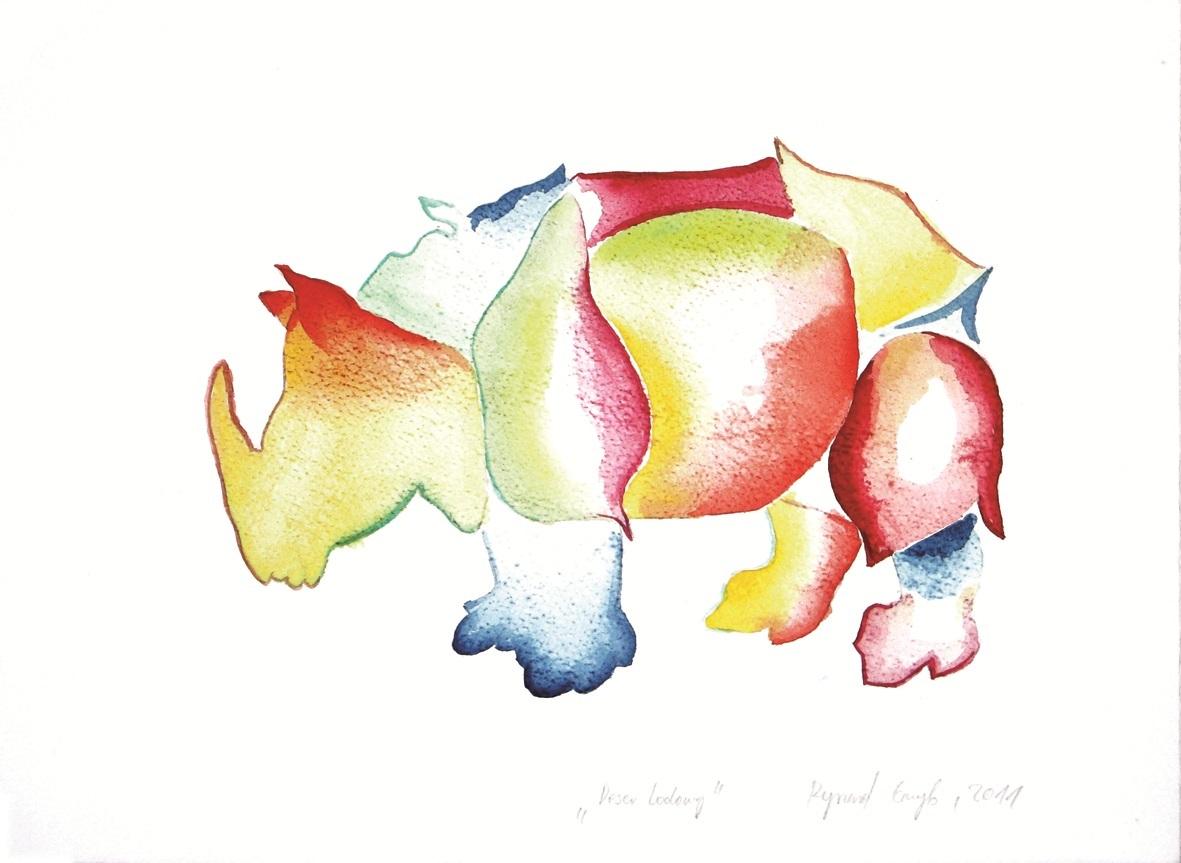 Arttrakt, Ryszard Grzyb, bez tytułu, pastel papier, 2010