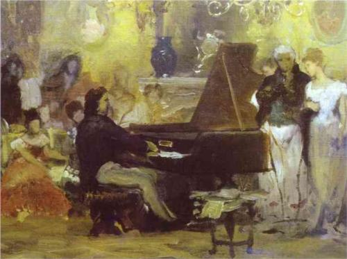 Henryk Siemiradzki, Chopin Performing in the Guest-Hall of Anton Radziville in 1829