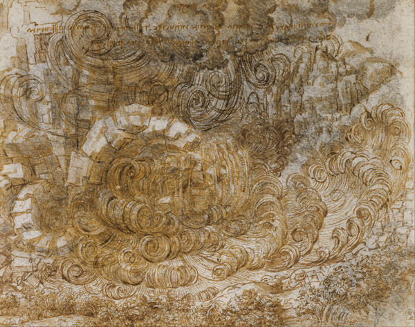 "Leonardo da Vinci, seria rysunków ""Potop"""
