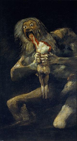 Francesco de Goya, Saturn pożerający własne dzieci, z kolekcji Museo del Prado