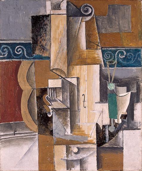 Pablo Picasso, Skrzypce i gitara, 1913, z kolekcji Emitrażu w Petersburgu