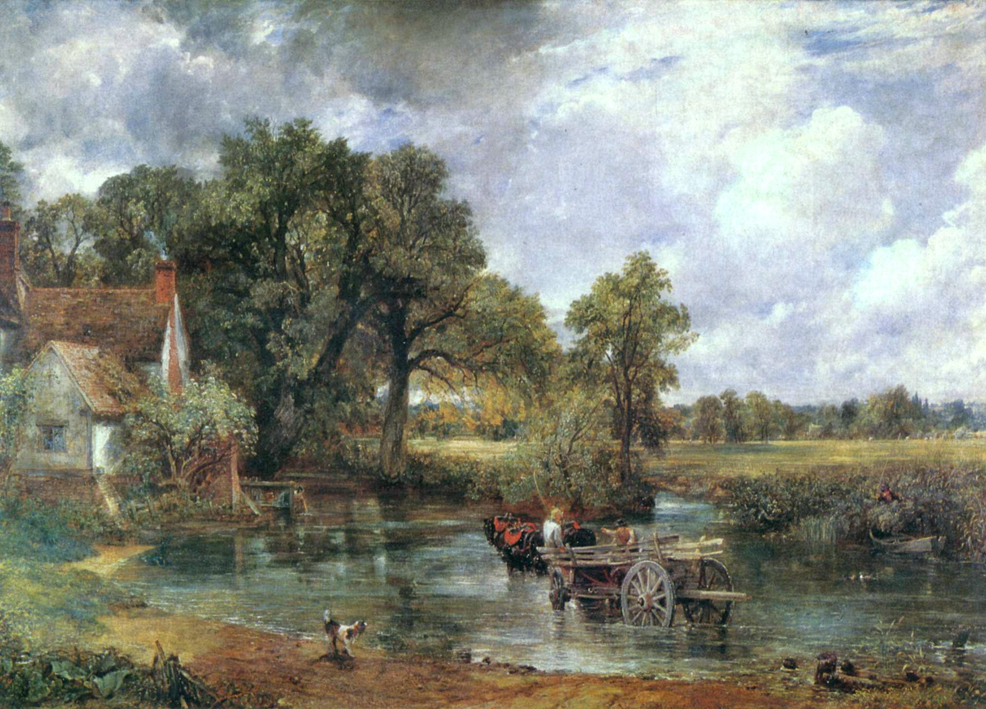 John Constable, Wóz na siano, 1821, z kolekcji National Gallery w Londynie
