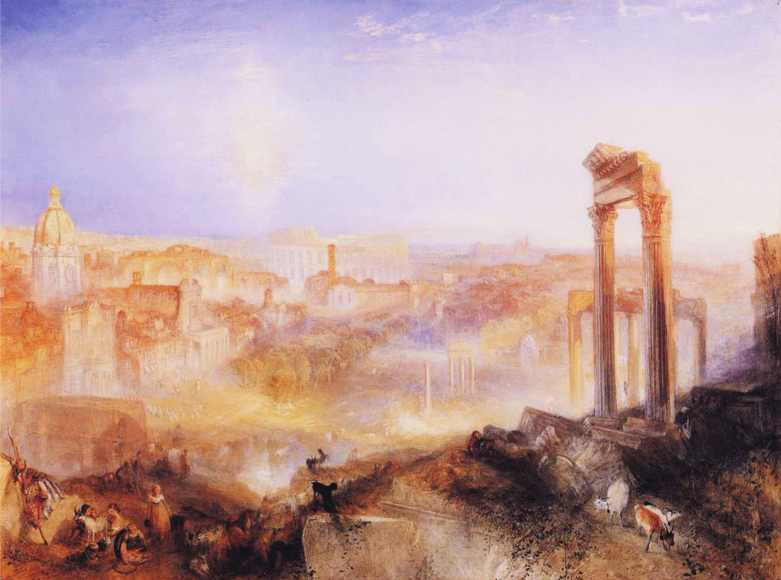 William Turner, Modern Rome - Campo Vacino, 1839, Sotheby's