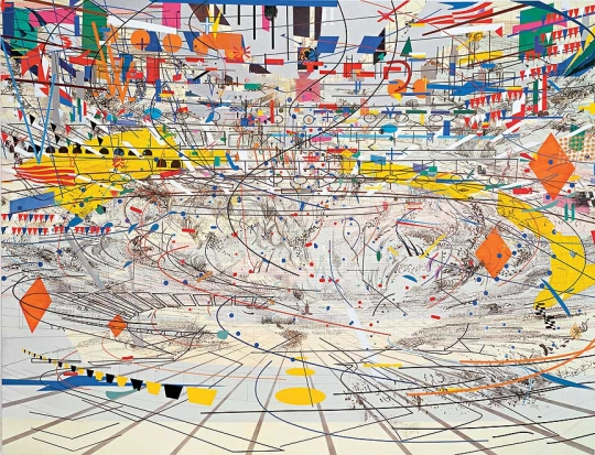 Julie Mehretu, Stadia II, 2004, Photo by Richard Stoner © Julie Mehretu