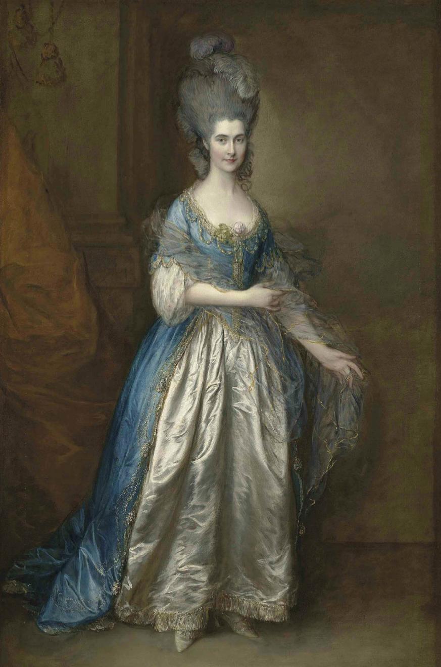 Thomas Gainsborough, Portret Pani William Villebois, źródło: Christie's