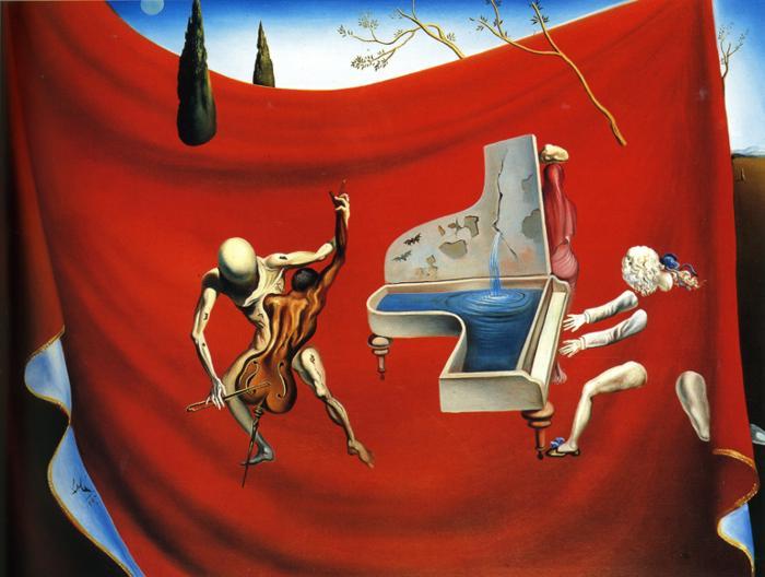 Salvador Dali, Music. The red orchestra, 1957, własność prywatna