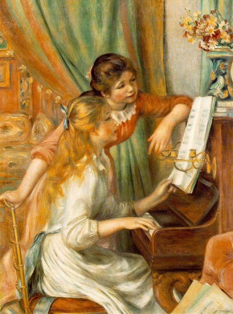 Pierre-Auguste Renoir, Dziewczęta przy pianinie, z kolekcji Muzeum d'Orsay