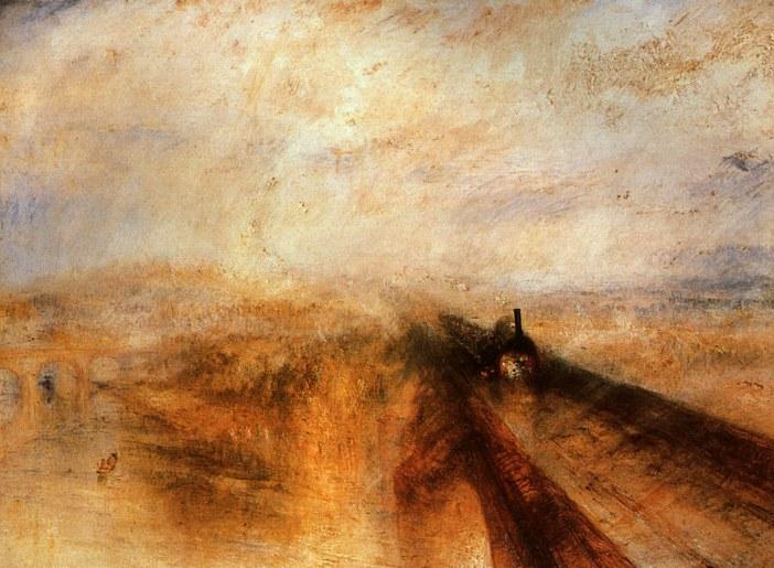 William Turner, Deszcz, para, szybkość, 1844, National Gallery w Londynie