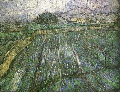 Vincent van Gogh, Pole pszenicy w deszczu, 1889, Philadelphia Museum of Art
