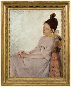 """Olga Boznańska """"Zadumana dziewczynka"""" (1889), źródło: Agra-Art"""