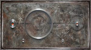 Daniel Krysta, WA 523, 2014, 60 x 120 cm, z ramą 67 x 127 cm, technika mieszana, płótno