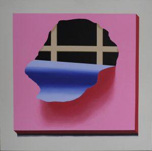 Marcin Kowalik, Obraz bez znaczenia IV, 2014, 130 x 130 cm, akryl, płótno