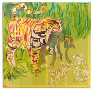 Tygrys z upolowaną małpą, Szymon Szelc