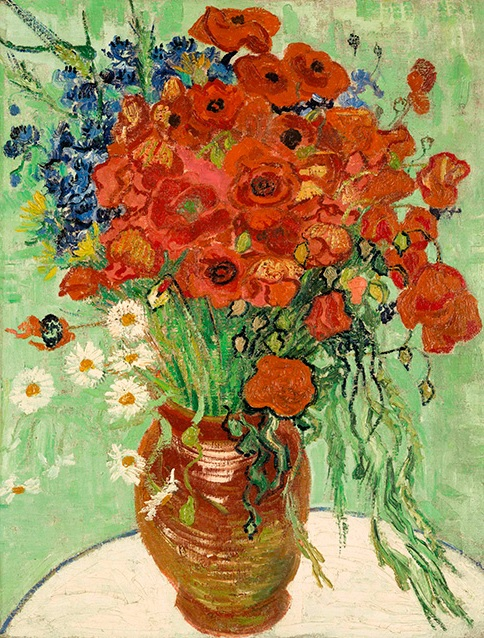 Vincent van Gogh, Vase with Daisies and Poppies, 1890, źródło: Sotheby's