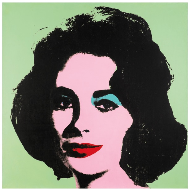 Andy Warhol, Liz #3 [Early Colored Liz], źródło: Sotheby's