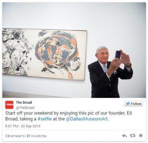 Eli Broad, filantrop i przedsiębiorca, w Dallas Museum of Art, źródło: Twitter