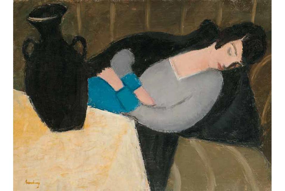Robert Bereny, Śpiąca kobieta z czarną wazą
