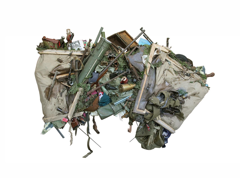 Bartosz Kokosiński, Obraz pożerający scenę batalistyczną, 2014, 160 x 220 cm. Fot. dzięki uprzejmości artysty.