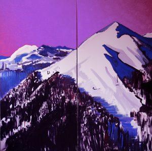Alpy, 2014, Mariusz Mierzejewski, olej, płótno, 200 x 200 cm