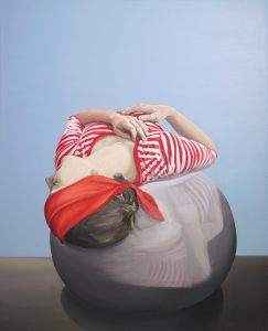 Marzena Ślusarczyk,  Planet, 2009, akryl na płótnie, 110x130 cm