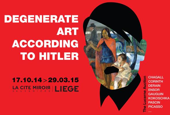 Angielska wersja plakatu zapowiadającego wystawę. Źródło: Citemiroir.be