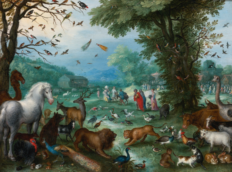 Jan Breughel Starszy, PARADISE LANDSCAPE WITH THE ANIMALS ENTERING NOAH'S ARK, źródło: Sotheby's