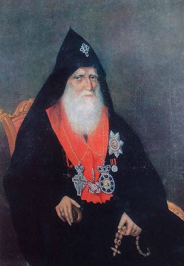 Akop Ovnatanyan, Portret Nersesa Asztarakecy, XIX wiek, źródło: Wikipedia