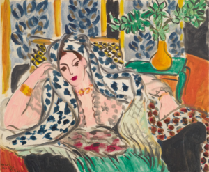 Henri Matisse, Odeliska na czarnym fotelu, 1942 źródło: Sotheby's