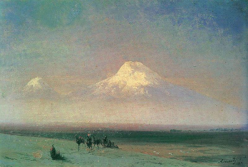Iwan Ajwazowski, Ararat, 1882, źródło: Wikipedia