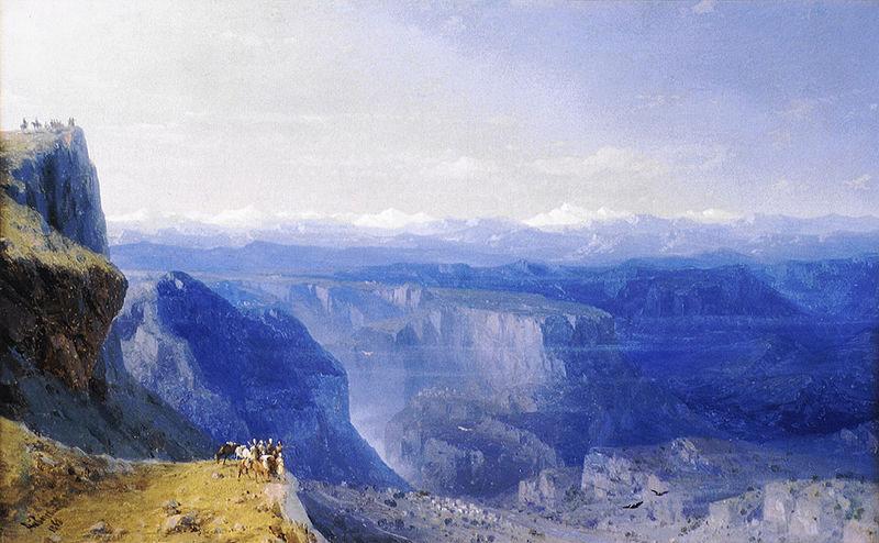 Iwan Ajwazowski, Kaukaz, 1863, źródło: Wikipedia