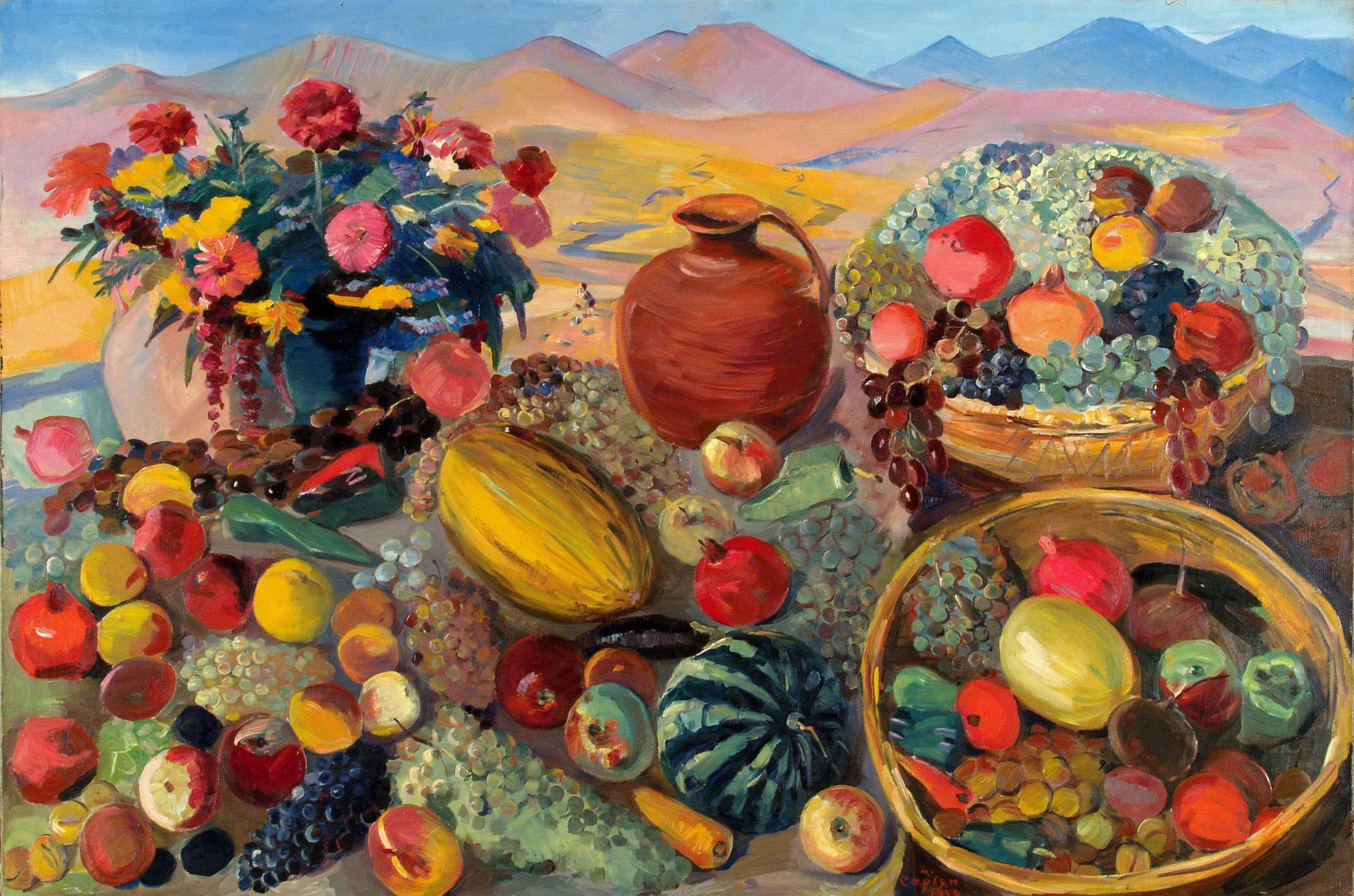 Martiros Sarian, Dary jesieni, 1954, źródło: Wikipedia