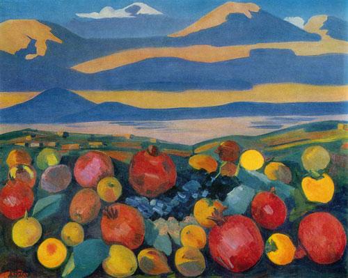 Martiros Sarian, Martwa natura na tle Ararata, źróło: Wikipedia