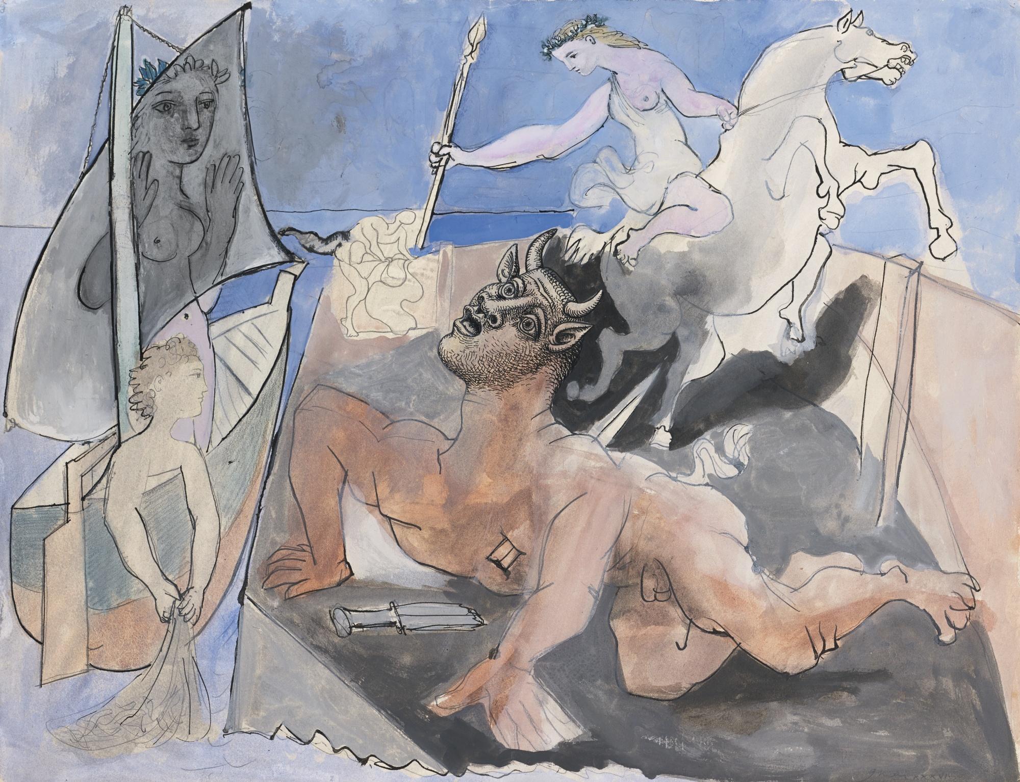 Pablo Picasso, Composition au Minotaure, 1936, źródło: Sotheby's