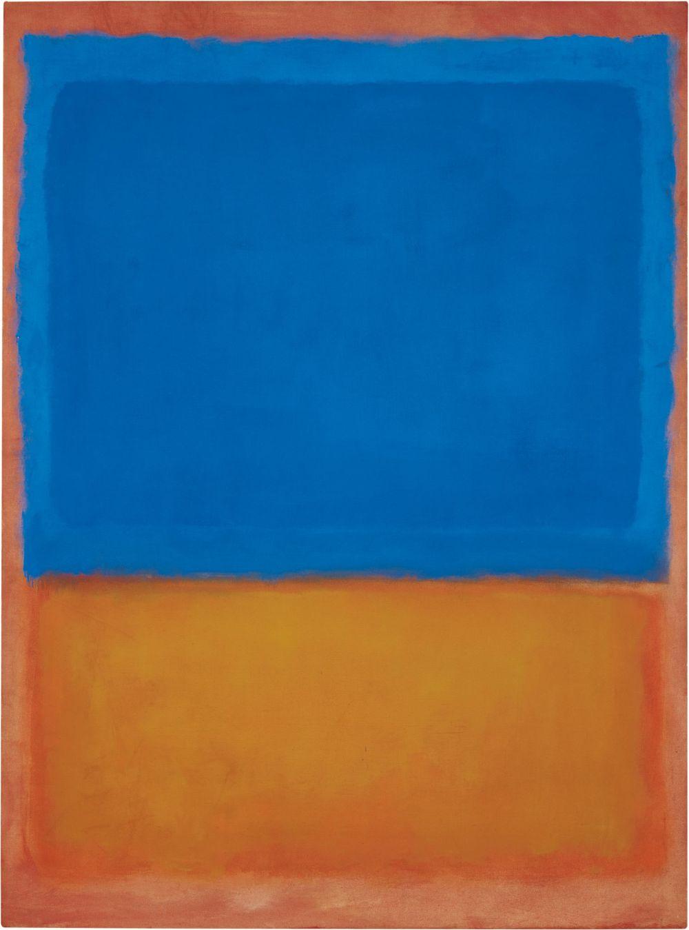 Mart Rothko, Bez tytułu (Czerwony, Niebieski, Oranż), 1955, źródło: Phillips de Pury