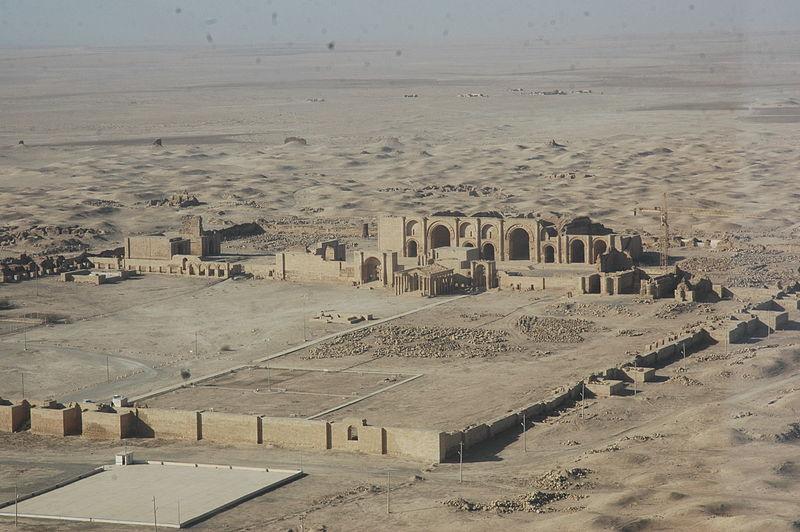 Widok na Hatrę, zdjęcie wykonane w 2007 roku, źródło: Wikipedia