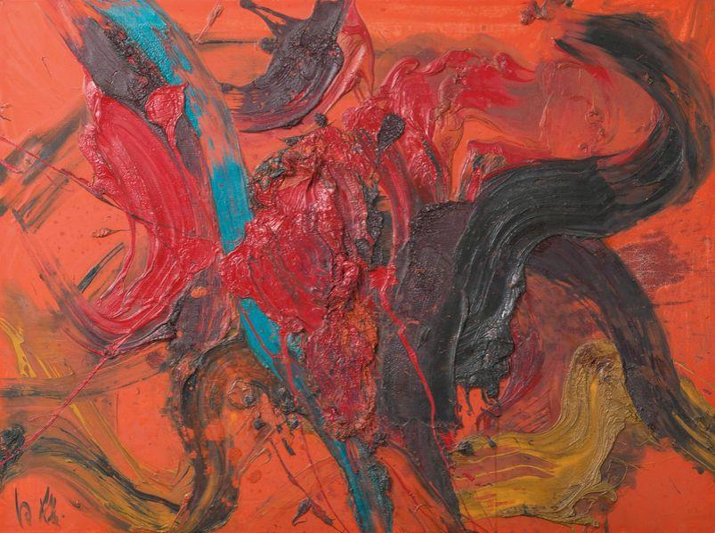 Kazuo Shiraga, Bez tytułu, 1964, źródło: sotheby's