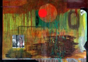 Milosz-Flis_Czas-apokalipsy_2011_akryl-na-papierze_100-x