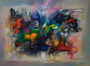 Zdzisąaw Majrowski Constantin Meyro Myėli Galeria Blue-S obraz olejny na pąĘtnie