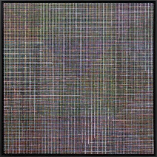 Nobuyoshi Watanabe, Krata, 2013, 120x119,5,technika olejna na płótnie naklejonym na podłoże drewnopochodne Fot. 1-3 Marta Bindek