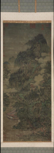 """Zhang Daqian's forgery of Guan Tong's """"Drinking and singing at the foot of a precipitous mountain"""" dzieło powstalo w latach 1910-1957,  Museum of Fine Arts Boston"""