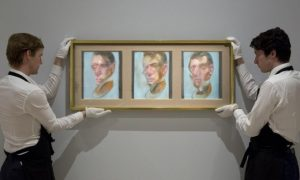 Francis Bacon, Three Studies for a Self - Portrait, 1980 rok, źródło: Sotheby's