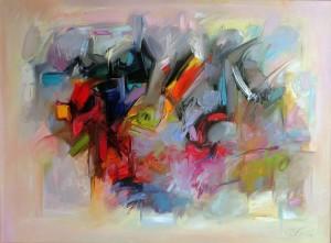 Zdzisław Majrowski Constantin Meyro Spacer w Parku  Galeria Blue-S obraz olejny na płótnie