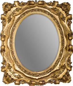Złocone lustro włoskie. Początek XIX wieku.