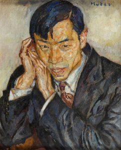 """Mela Muter """"Portret chińskiego poety Cheng Tcheng"""" (1899 - 1996), źródło: DESA Unicum"""
